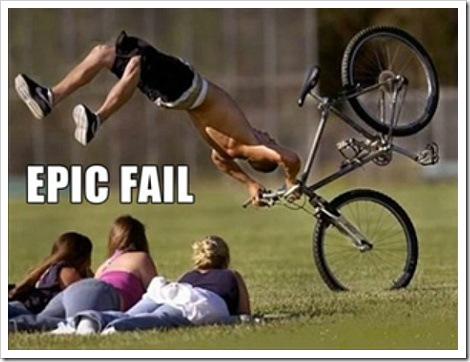 Bicycle Fall Watching Girls